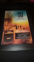 Cry Of Love Bad Thing Rare Original Radio Promo Poster Ad Framed! #2