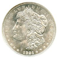 "1921-D $1 Morgan Dollar, NGC MS-65. Wow! This is an all white coin with great cartwheel luster. The 1921 Morgan's tend to be ""flat"" -- this coin is NOT flat. Attractive 1921 Morgan's are tough to find in MS-65. Write for higher quality scan or layaway options. Zero problems guaranteed. Free Shipping."