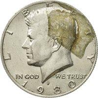 1980-P Choice  BU  Mint State Kennedy US Half Dollar Coin
