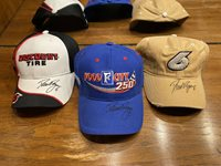 Autographed David Ragan Hats (3) NASCAR Cup Xfinity First Win
