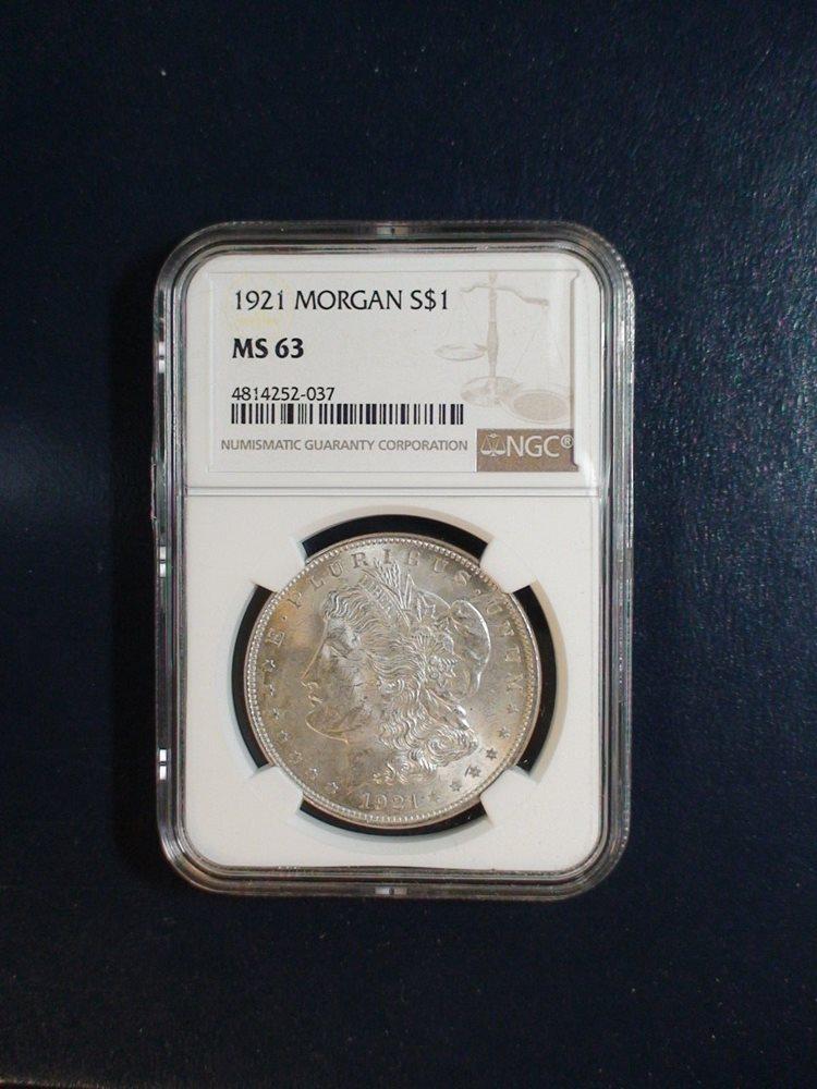 1881-S $1 Morgan Silver Dollar NGC MS63 Blast White