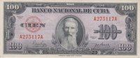 Cuba 100 Pesos 1950 Aguilera Pick#82a Xf