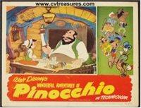 Disney's Pinocchio Vintage Lobby Card Movie Poster, 1945