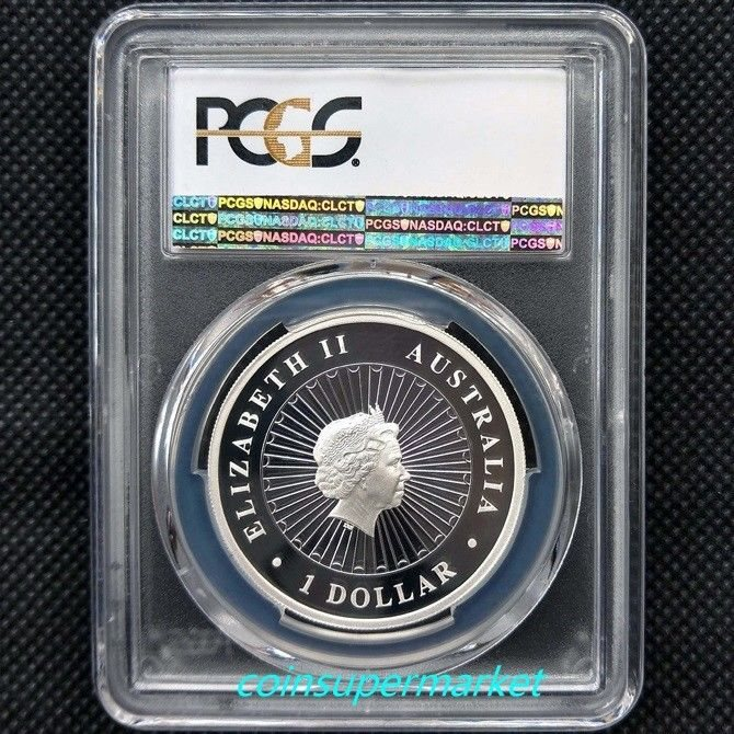 Australia Opal Lunar Year Of Rooster 2017 1oz Silver Proof Coin PCGS PR 69 DCAM