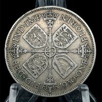 1930 Great Britain GEORGE V Silver Florin 2 Shillings Coin KM#834
