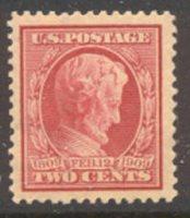 367 2c Lincoln Commemorative , carmine, Perf 12, AVG Unused OG[367ogavg]