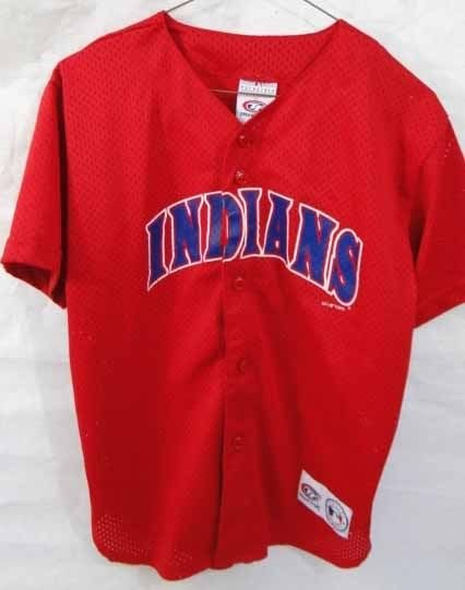 buy popular b3a9b 3700c Vintage True Fan CLEVELAND INDIANS Jersey, Red Size Youth Large