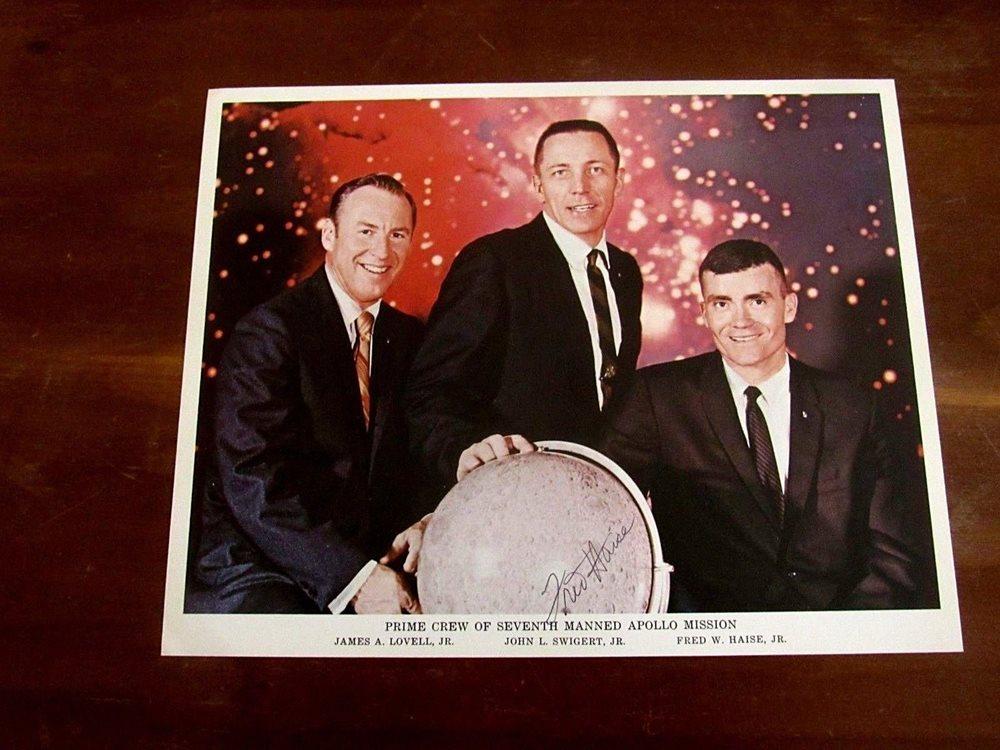 Historical Memorabilia Fred Haise Hand Signed 8x10 Photo Nasa Apollo 13 Mission Authentic Autograph Exploration Missions