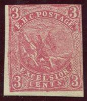 Eastman National Business College, Poughkeepsie, N.Y. Drummond ENB2 1878 3c red unused, F