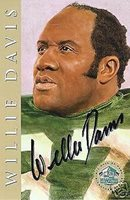 WILLIE DAVIS GREEN BAY PACKERS LIMITED EDITION AUTOGRAPHED HOF SIGNATURE CARD