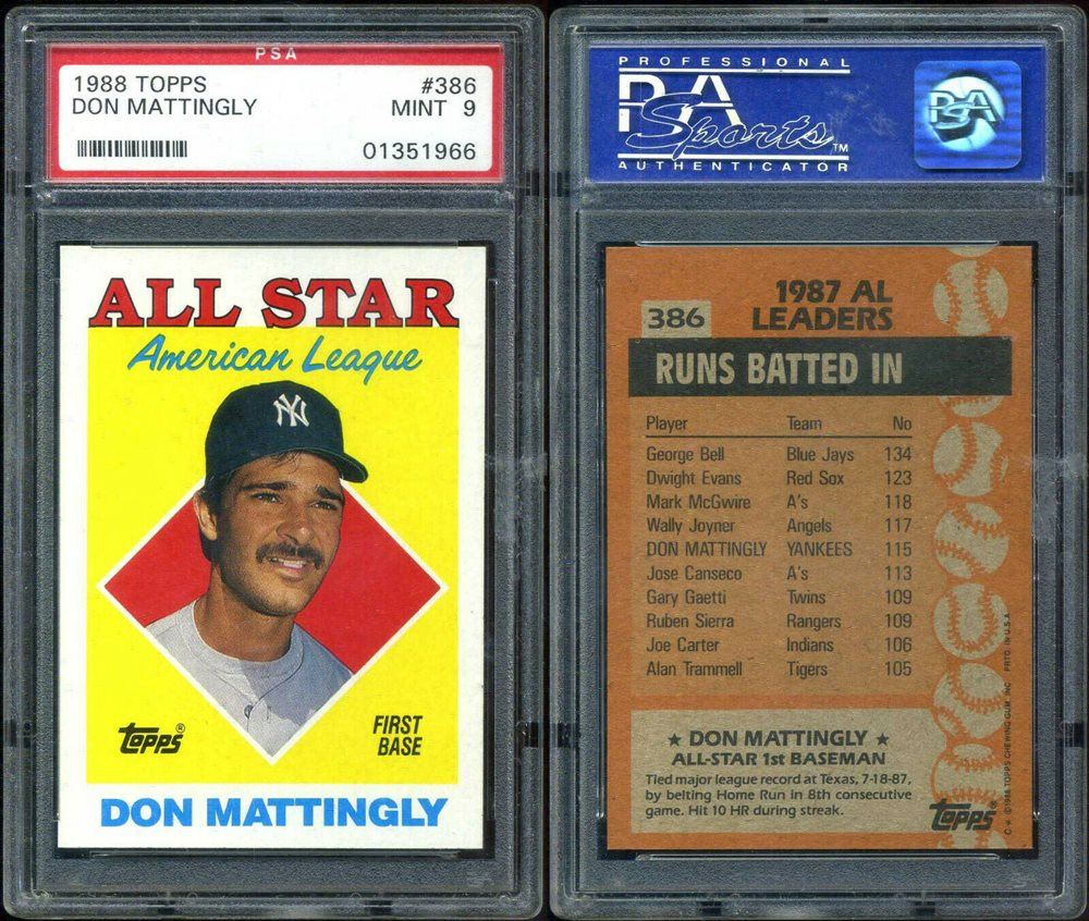 Auction Prices Realized Baseball Cards 1988 Topps Don Mattingly