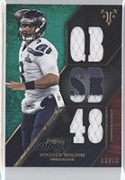 Russell Wilson #3/18 (Football Card) 2014 Topps Triple Threads Relics Emerald #TTR-164