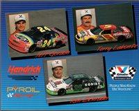 Hendrick Motor Sports Chevy Lumina NASCAR Team Card