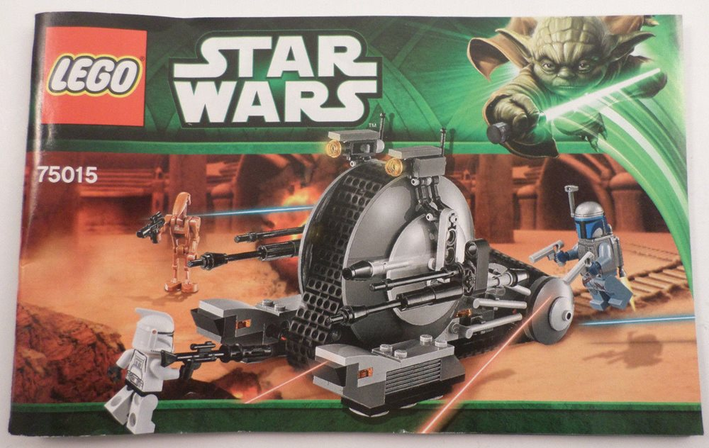 Star Wars Lego Instruction Manual Booklet Only 75015