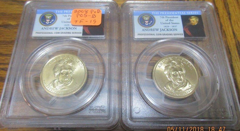 2008 S Presidential Dollar 4 Coin Proof Set PCGS PR69 DCAM $1
