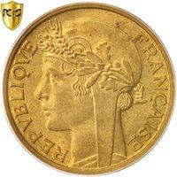 French West Africa, Franc, 1944, Paris, PCGS, MS63+, Aluminum-Bronze, KM:2