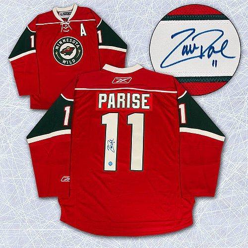 half off b57b7 aa0ff Autographed Signed Zach Parise Minnesota Wild Reebok Premier Jersey -  Autographed NHL Jerseys
