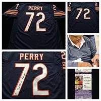 online retailer 23499 ee429 William Perry Chicago Bears Signed Autograph Blue Jersey JSA COA