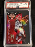 2014 Totally Certified GIANNIS ANTETOKOUNMPO MIRROR PLAT RED DIE-CUT PSA 10 Pop1