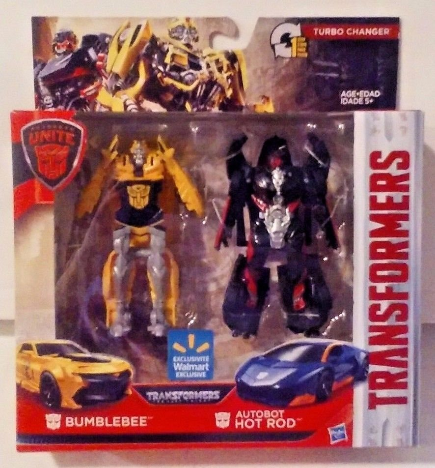 HOT ROD /& BUMBLEBEE Transformers Turbo Changer Wal-Mart Exclusive action figure
