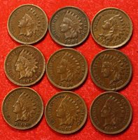 1900-1908 INDIAN HEAD CENTS, PENNY VF- XF COLLECTOR COINS CHECK STORE IH686