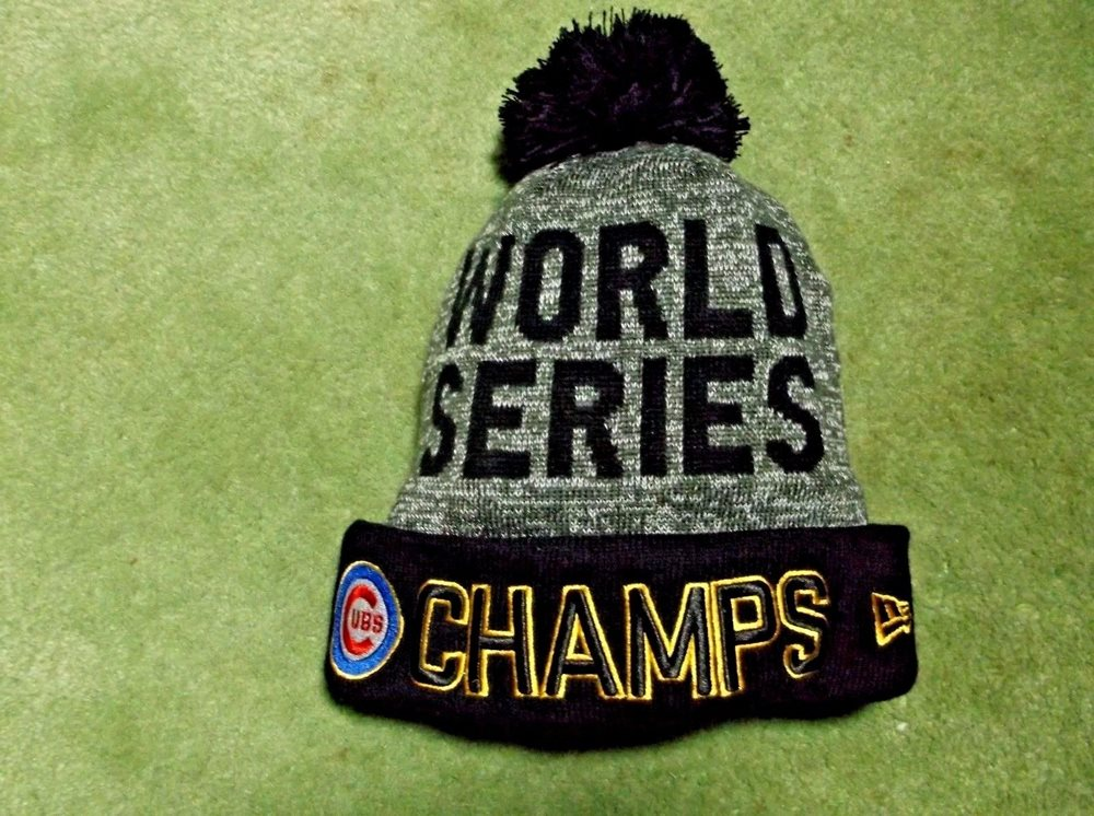 World Series Champs Chicago Cubs Beanie Hat Cap New Era 3e3fb5b8b78
