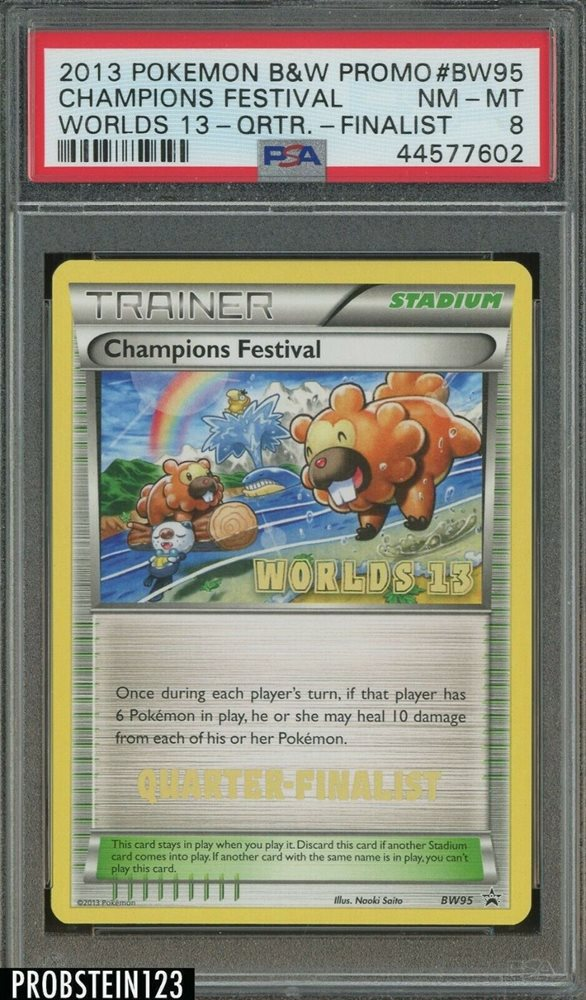 Worlds /'/'13 Promo NM Promo Black /& Staff BW95 - Champions Festival