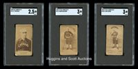 1886-87 N172 Old Judge Chicago White Sox SGC Graded Trio