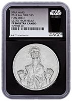 Yoda Proof NGC PF70 Black Retro 1 oz $2 2016 Niue Silver Star Wars Classic