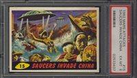 "1962 Mars Attack #15 Saucers Invade China PSA 6 EX-MT """"1962 Mars Attack #15 Saucers Invade China PSA 6 EX-MT """""