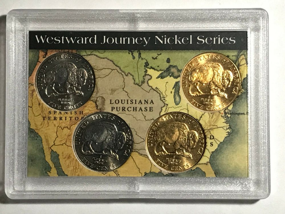 2-Westward Journey Nickel Series Sets 2005 American bison /& Louisiana Purchase