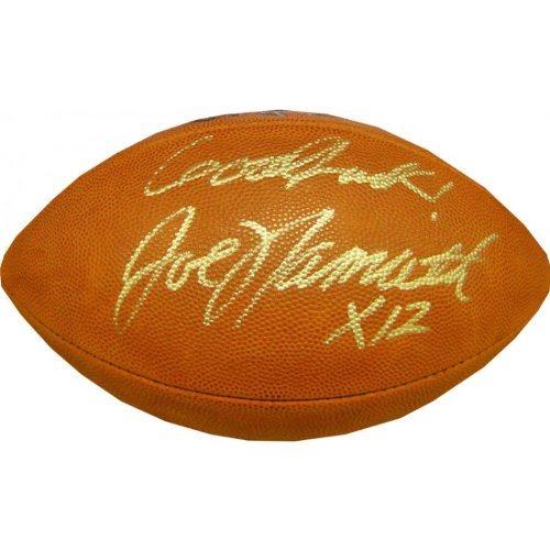 check out 7be22 788a5 Joe Namath Autographed Football