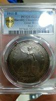 1911-B Great Britain Trade $1 Dollar Coin PCGS AU Details Hong Kong