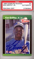 Ken Griffey Jr. Autographed 1989 Donruss The Rookies Card #3 Seattle Mariners PSA/DNA #27090940Ken Griffey Jr. Autographed 1989 Donruss The Rookies Card #3 Seattle Mariners PSA/DNA #27090940