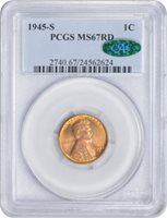 Lincoln Cent (Wheat Reverse), 1945-S MS - PCGS Auction Prices