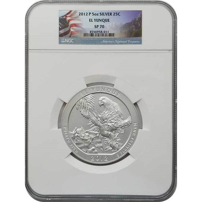 2017 P Ellis Island National Park 5oz Silver NGC SP70 First Day Issue