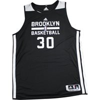 2016-2017 Brooklyn Nets #30 Black and White Reversible Home Practice Jersey (2XL)