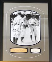 Honus Wagner / Ty Cobb Photo w/Autographed Cuts