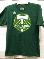 PORTLAND TIMBERS DARK GREEN SHORT SLEEVE ADIDAS MLS GO TO TEE MEDIUM