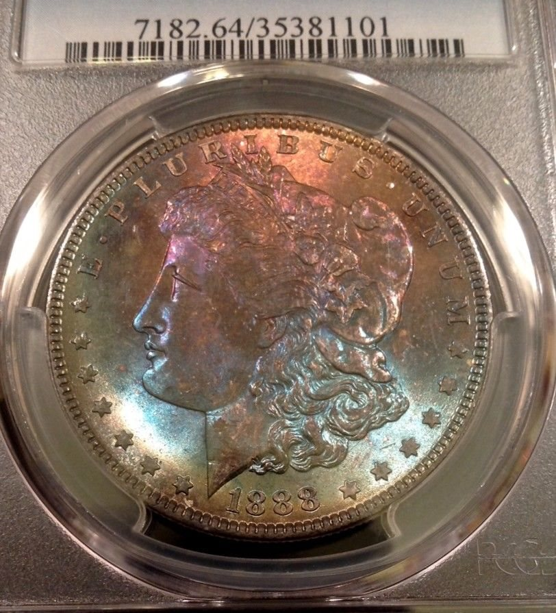 1888 Morgan Silver Dollar $1 PCGS MS64 Bright White