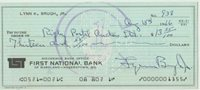 1966 First National Bank Hagerstown USA cheque England stamp at back, PAID