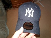 8729cd70a MLB NEW YORK YANKEES NYY BASEBALL HAT CAP NEW ERA NWOT ADJ.BACK NYY BALL