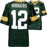 7000226ba5b Aaron Rodgers Green Bay Packers Autographed Nike Green