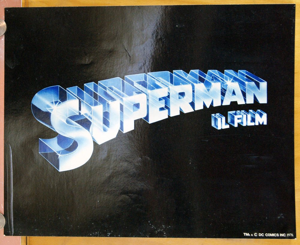 SUPERMAN THE MOVIE set of 2 Jumbo Lobby Cards 16x20 CHRISTOPHER REEVE 1978