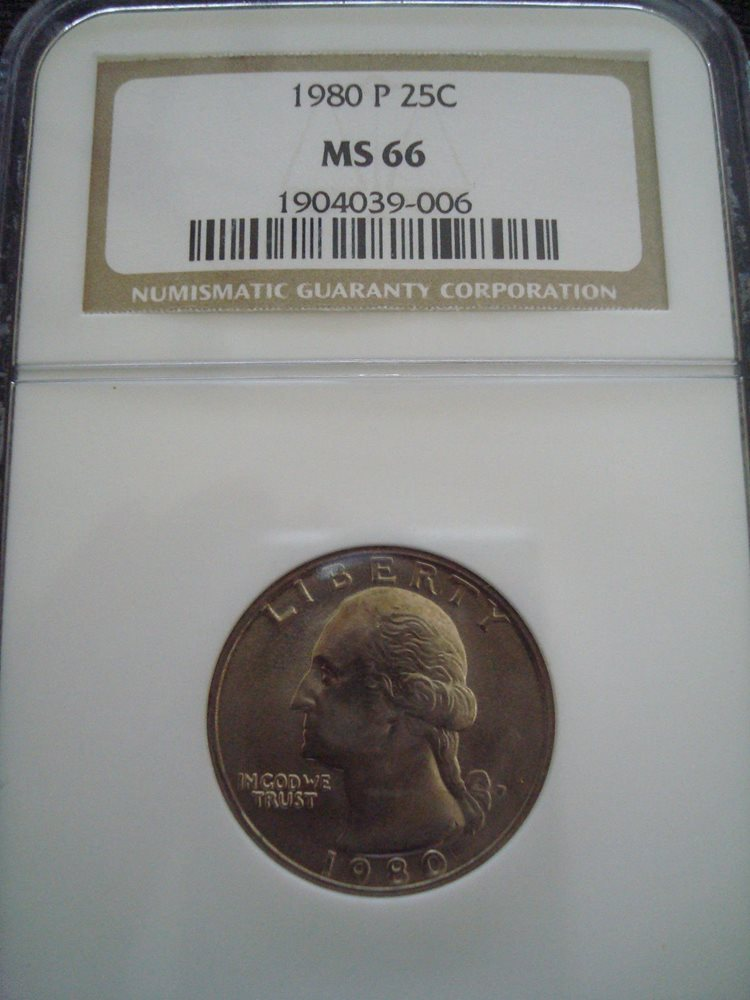 1980-P Washington Quarter NGC MS66  , MS66 - PCGS Auction Prices
