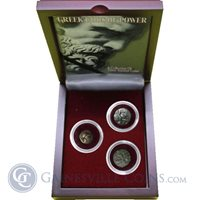 Apollo Athena Greek Gods of Power: Box of 3 Ancient Greek Coins and Poseidon