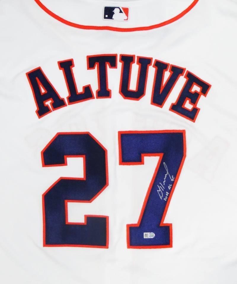 brand new 3d9c0 a0c12 Jose Altuve Signed Autographed Houston Astros Jersey JSA