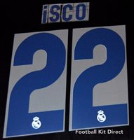 Real Madrid Isco 22 2018//19 Football Shirt Name//Number Set Sporting ID Adult A