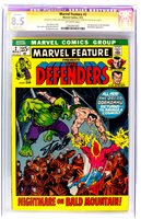 MARVEL FEATURE #2 THE DEFENDERS CGC 8.5 Signature SS comic signed by STAN LEE