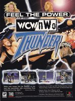 WCW NWO THUNDER wrestling PlayStation PS1 1998 video game print ad page